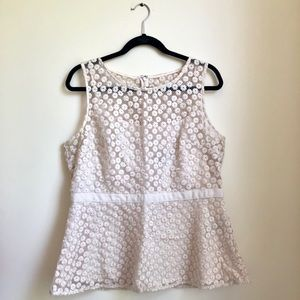 Banana Republic Sleeveless Embroidered Blouse